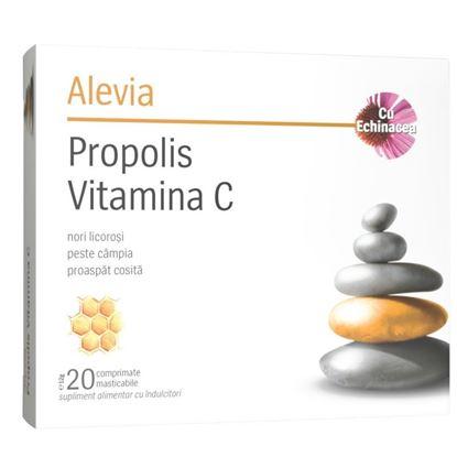 Imagine ALEVIA PROPOLIS VIT C CU ECHINACEA X 20 COMPRIMATE MASTICABILE (1+1 GRATIS)